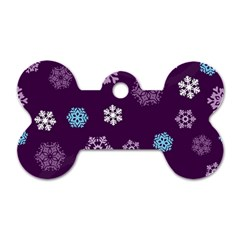 Winter Pattern 10 Dog Tag Bone (two Sides)