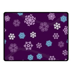 Winter Pattern 10 Double Sided Fleece Blanket (small)