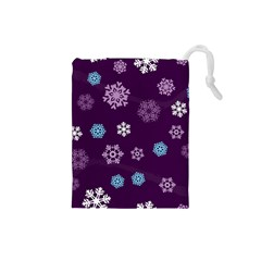Winter Pattern 10 Drawstring Pouches (small)