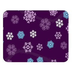 Winter Pattern 10 Double Sided Flano Blanket (large)