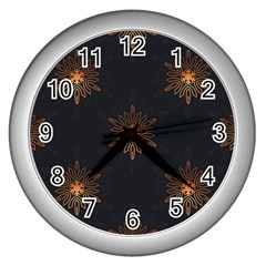Winter Pattern 11 Wall Clocks (silver)