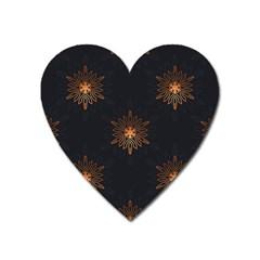 Winter Pattern 11 Heart Magnet