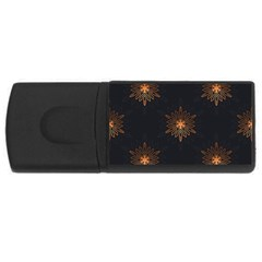 Winter Pattern 11 Rectangular Usb Flash Drive