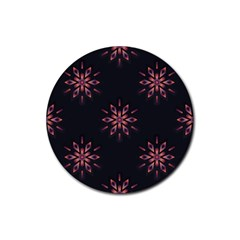 Winter Pattern 12 Rubber Round Coaster (4 Pack)