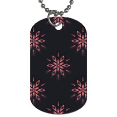 Winter Pattern 12 Dog Tag (one Side)