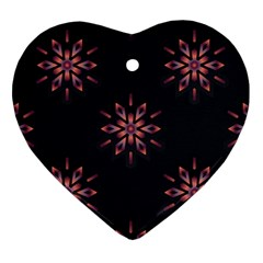 Winter Pattern 12 Heart Ornament (two Sides)