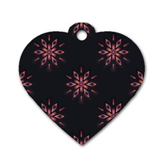 Winter Pattern 12 Dog Tag Heart (one Side)