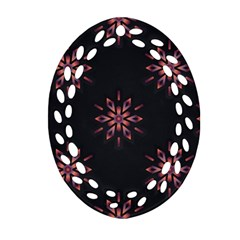 Winter Pattern 12 Oval Filigree Ornament (two Sides)