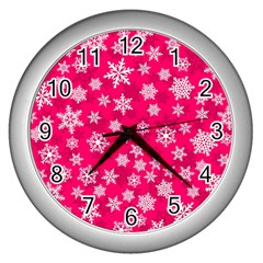 Winter Pattern 13 Wall Clocks (silver)