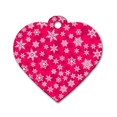 Winter Pattern 13 Dog Tag Heart (one Side)