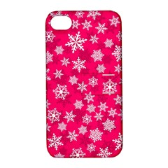 Winter Pattern 13 Apple Iphone 4/4s Hardshell Case With Stand