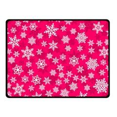 Winter Pattern 13 Double Sided Fleece Blanket (small)
