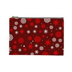 Winter Pattern 14 Cosmetic Bag (large)
