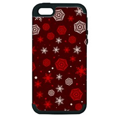 Winter Pattern 14 Apple Iphone 5 Hardshell Case (pc+silicone)
