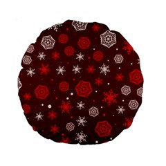 Winter Pattern 14 Standard 15  Premium Round Cushions