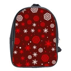 Winter Pattern 14 School Bag (xl)