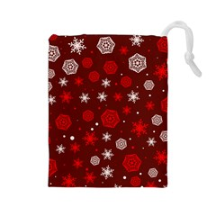 Winter Pattern 14 Drawstring Pouches (large)