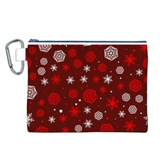 Winter Pattern 14 Canvas Cosmetic Bag (l)