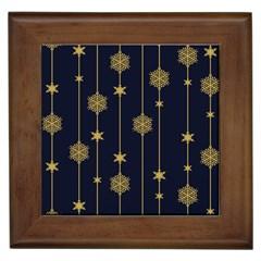 Winter Pattern 15 Framed Tiles
