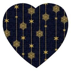 Winter Pattern 15 Jigsaw Puzzle (heart)