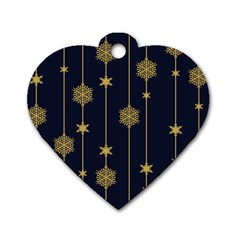 Winter Pattern 15 Dog Tag Heart (one Side)