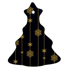 Winter Pattern 15 Christmas Tree Ornament (two Sides)