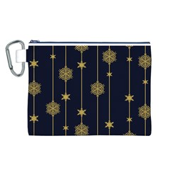 Winter Pattern 15 Canvas Cosmetic Bag (l)