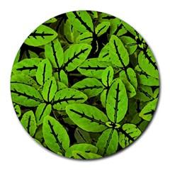 Nature Print Pattern Round Mousepads