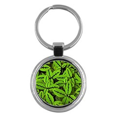 Nature Print Pattern Key Chains (round)