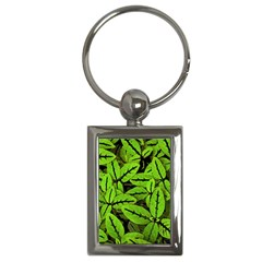 Nature Print Pattern Key Chains (rectangle)