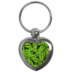 Nature Print Pattern Key Chains (heart)