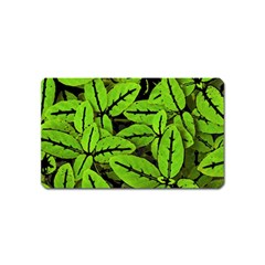 Nature Print Pattern Magnet (name Card)