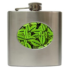 Nature Print Pattern Hip Flask (6 Oz)