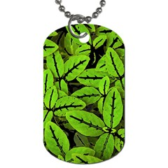 Nature Print Pattern Dog Tag (two Sides)