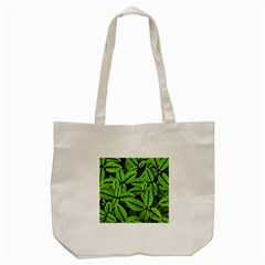 Nature Print Pattern Tote Bag (cream)