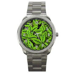 Nature Print Pattern Sport Metal Watch