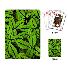 Nature Print Pattern Playing Card