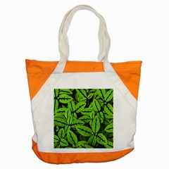 Nature Print Pattern Accent Tote Bag
