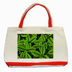 Nature Print Pattern Classic Tote Bag (red)