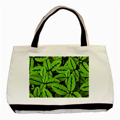 Nature Print Pattern Basic Tote Bag (two Sides)
