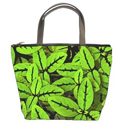 Nature Print Pattern Bucket Bags