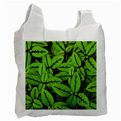 Nature Print Pattern Recycle Bag (one Side)