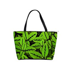 Nature Print Pattern Shoulder Handbags