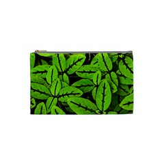 Nature Print Pattern Cosmetic Bag (small)