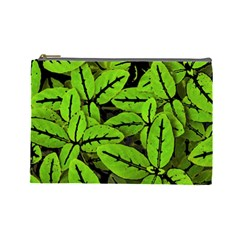 Nature Print Pattern Cosmetic Bag (large)