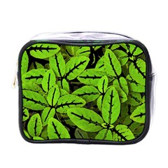 Nature Print Pattern Mini Toiletries Bags