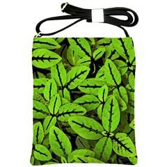 Nature Print Pattern Shoulder Sling Bags