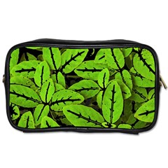 Nature Print Pattern Toiletries Bags