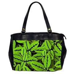 Nature Print Pattern Office Handbags (2 Sides)