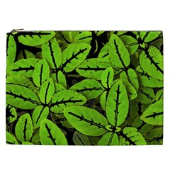 Nature Print Pattern Cosmetic Bag (xxl)